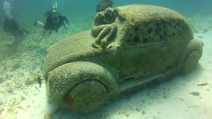 Подводен музей в Канкун Мексико!