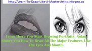 Pencil Portrait, Step By Step Drawing Lessons, Best Way To Learn How To Draw, Best Learn To Draw Boo