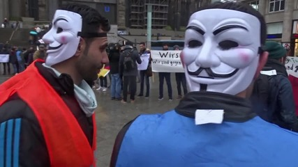 Germany: Syrian refugees rally against sexual violence in Cologne