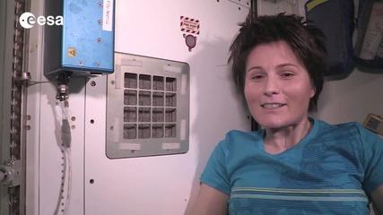 МКС: Как се къпят астронавтите