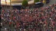 Феновете на Атлетико отпразнуваха по подобаващ начин титлата