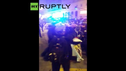 Police Crack Down during Illegal March against Oakland's New Protest Rules