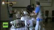 Italy: 167kg of cannabis seized by police from makeshift boat