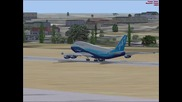 fsx бойнг 747-400 полет