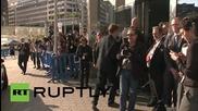 Belgium: Varoufakis, Dijsselbloem and Draghi arrive for Greek crisis talks