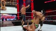 Alexander Rusev , Kevin Owens & Sheamus vs Randy Orton , John Cena & Cesaro - Wwe Raw 20 Юли 2015