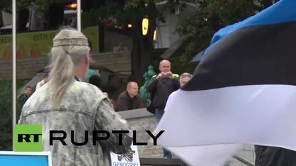 Estonia: Anti-migrant protesters demand referendum