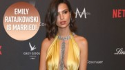 Emily Ratajkowski gets married at New York City Hall