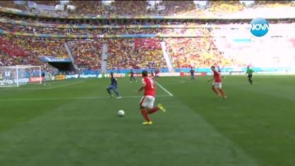 """Швейцария победи с 2:1 Еквадор в мач от група """"Е"""""""