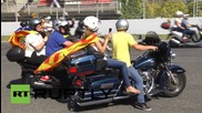 Spain: Thousands of bikers ride for Catalan independence in Barcelona