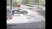 Kатастрофа - кола отнема предимство на мотоциклетист