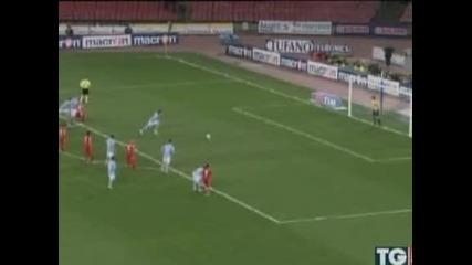 """""""Наполи"""" се доближи на три точки от """"Милан"""" след 2:1 над """"Каляри"""""""