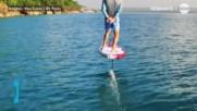 Сърф, който буквално лети над водата