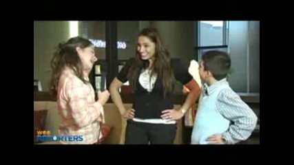 Trish Stratus interviewed by Wee Reporters