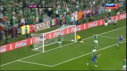 Евро 2012 : Ейре 0 - 1 Хърватия ( Бърз Гол с гла ва на Марио Манджукич в 3' минута ) 10.06.2012