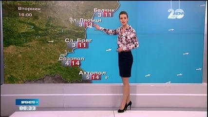 Прогноза за времето (23.12.2014 - сутрешна)