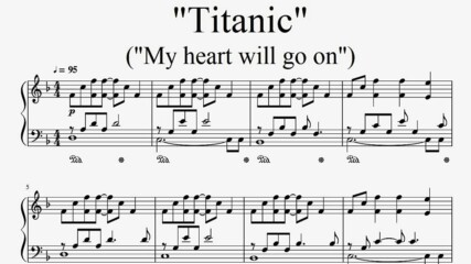 """Titanic"" - ""My Heart Will Go On"" (Piano Sheet Music by Tatiana Hyusein)"