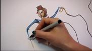 Произведение на изкуството от произволни линии