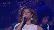 Превод! Beyonce - Halo ( Live Letterman 2009 ) ( Високо Качество )