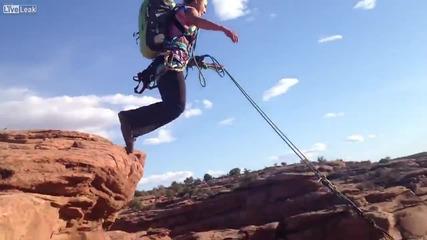 Ненормален скок от страшна височина