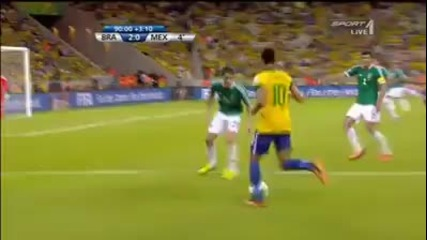 Перфекно асистиране от Неймар ! Бразилия-мексико 2-0