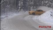 Изключително опасно рали на сняг