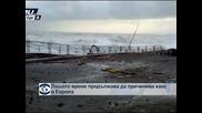 Лошото време продължава да причинява хаос в Европа