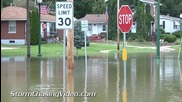 Речно наводнение в Лагранж , Мисури 8.7.2014