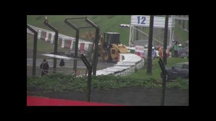 Брутални кадри от катастрофата на Жул Бианки на Сузуka