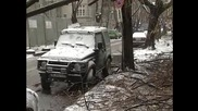 Паднало дърво върху лек автомобил 12.12.2009 г.