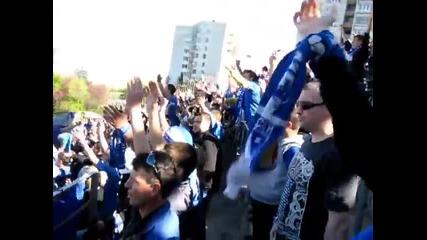Levski fans in Stara Zagora (24-04-2011)
