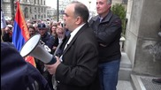 Serbia: Veterans protest Serbian government's partnership with NATO