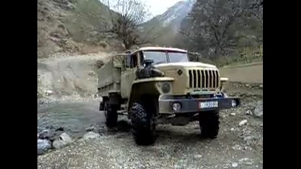 Ural 4x4 truck in Tien Shan Mtns. Kyrghyzstan. #1
