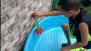 Splash Around Self Sealing Water Balloons Self Seal No Tie with Nozzle Multicolor Biodegradable