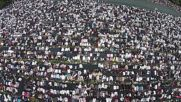UK: Drone footage shows thousands of Muslim celebrating Eid in Birmingham