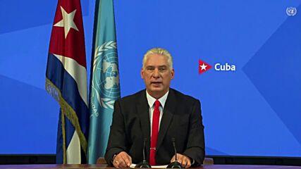 UN: Diaz-Canel denounces 'unconventional war' by US against Cuba