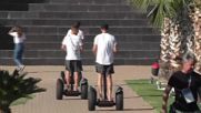 German players zip around Sochi on segways before taking on Sweden