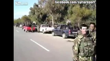 Войниците на Башар Асад празнуват победата си над платените терористи на запада