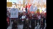 Протести в Словения срещу мерките за икономии