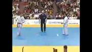 Emil Kostov 2nd fight of 2005 world weight category kyokushin karate tournament