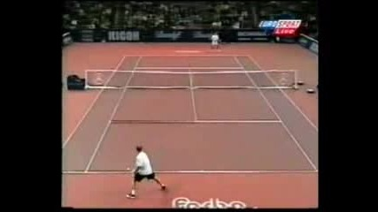 Agassi Vs Federer(basel 1998)