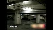 Дух на момиче изчезва зад кола :)