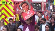 London Kurds Burn Islamic State Flag to Protest Suruc Attack