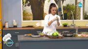 Рецептата днес: Пиле с бейби моцарела върху картофено пюре с джинджифил и мащерка