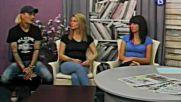 Савов и пеещите сервитьорки Деси и Ивон в сутрешния блок на ТВ ВИДЕОСАТ