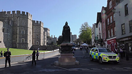 UK: Large police presence in Windsor ahead of Price Philip's funeral