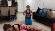 Desafio do yoga - Com Duda Cabral e jhenny martins