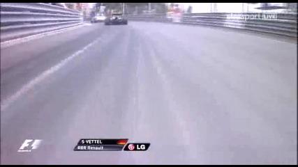 F1 2010 Стартът в Монако Onboard Sebastian Vettel