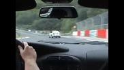 Porsche 911 Gt3 се гони с Bmw M5 E39 на Nurburgring