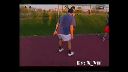 C.ronaldo Dribbling In Tennis Court
